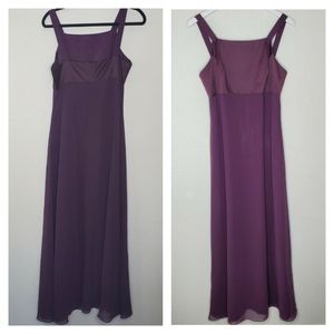 Papell Boutique Evening Purple Full Length Dress